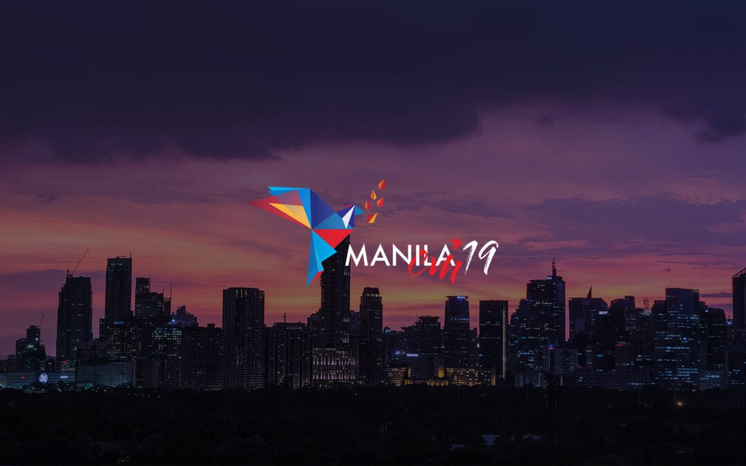 Presentation and explanation of the logo of the 2019 Visitors' Meeting in Manila, Philippines