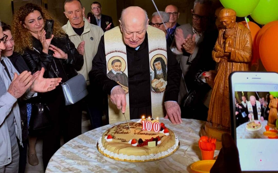 Father Vincenzo Tirabovi turns one hundred years old!