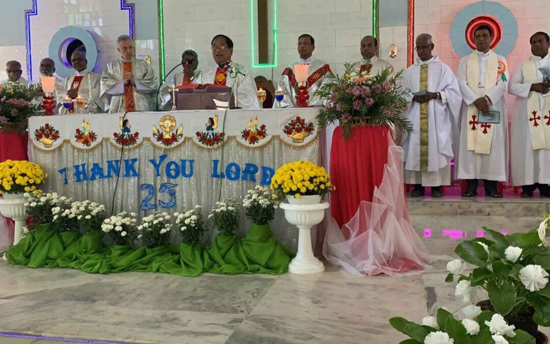 Silver Jubilee of the Mission in Pangmoul and Norhtheastern Region Established in India