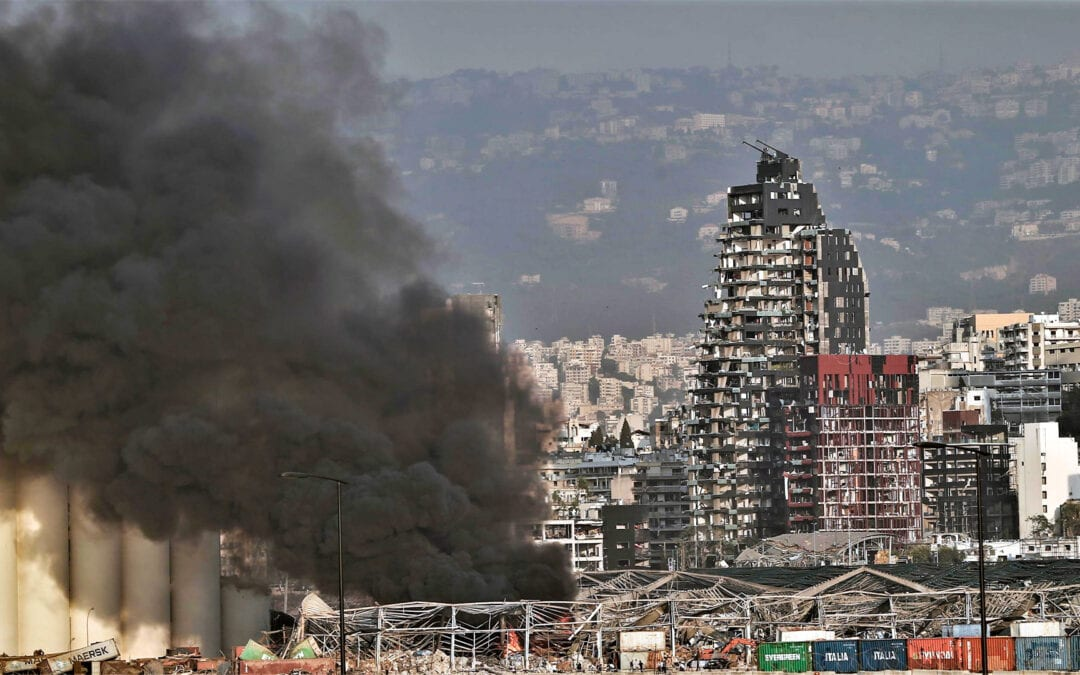 Explosion in the port hits Provincial House in Beirut