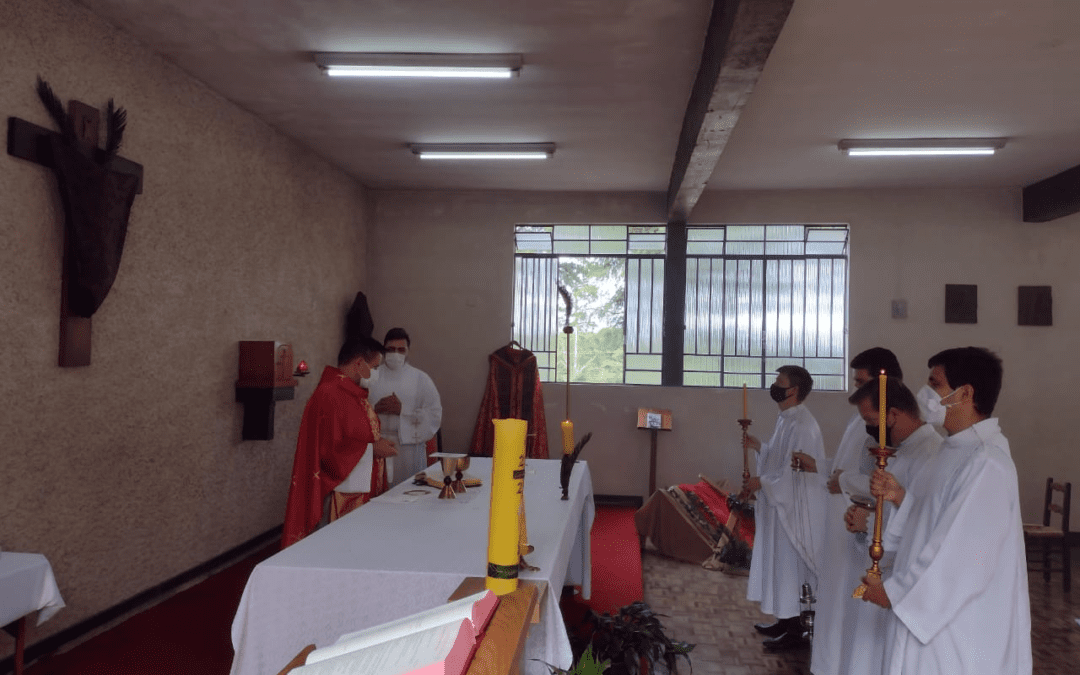 Eucharistic celebration for Palm Sunday took place in the Vincentian Seminary of Nuestra Señora de las Gracias