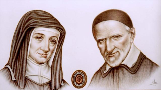 Resultado de imagen para San Vicente de Paúl y Santa Luisa de Marillac