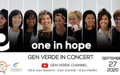 One in Hope: Concierto del Gen Verde el domingo 27 de septiembre de 2020. Recordando a la figura de San Vicente de Paúl