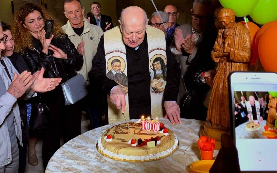 Padre Vincenzo Tirabovi, CM compie cent'anni!