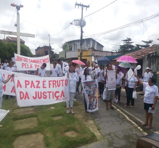 Walking for peace in Belém, Brazil